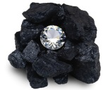 diamond in coal